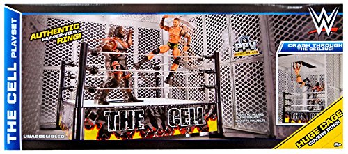 WWE Wrestling Superstar Rings The Cell Action Figure Playset [2015] by WWE