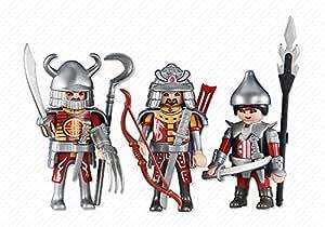 Playmobil 6326. 3 Caballeros Asiáticos Rojos
