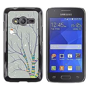iKiki Tech / Estuche rígido - Christmas Rainbow Snow Bird - Samsung Galaxy Ace 4 G313 SM-G313F