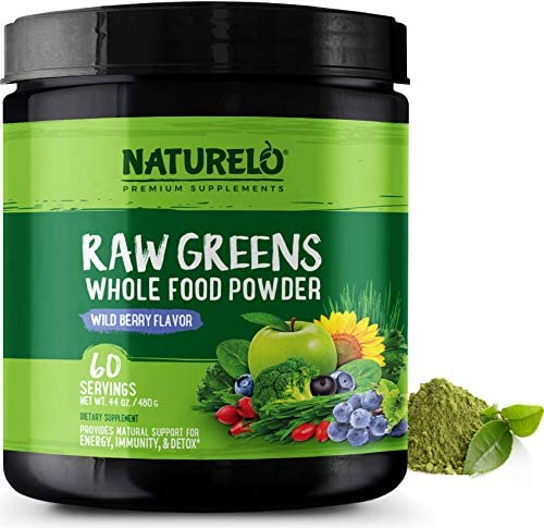 NATURELO Raw Greens Superfood Powder product image