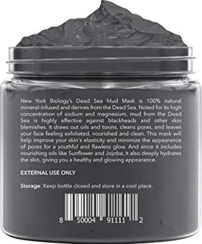 New York Biology Dead Sea Mud Mask for Face and Body – Spa Quality Pore Reducer for Acne, Blackheads and Oily Skin…