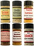 Premium POPCORN SEASONING Variety Pack | Parmesan Rosemary, Lemon Parmesan, Taco, Cinnamon Sugar, Smoked Parmesan & Ranch Popcorn Seasonings | 6 Popcorn Bags (6 count)