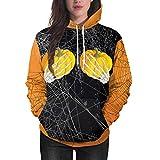 Womens Long Sleeve Halloween Pumpkin Style Hoodie Sweatshirt Jumper Hooded Pullover (XL)