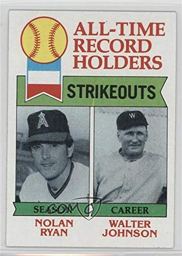 Nolan Ryan; Walter Johnson (Baseball Card) 1979 Topps - [Base] #417