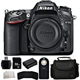 Nikon D7100 24.1 MP DX-Format CMOS Digital SLR (Body Only) - International Version (No Warranty) + 32GB Bundle + 7PC Accessory Kit + MORE