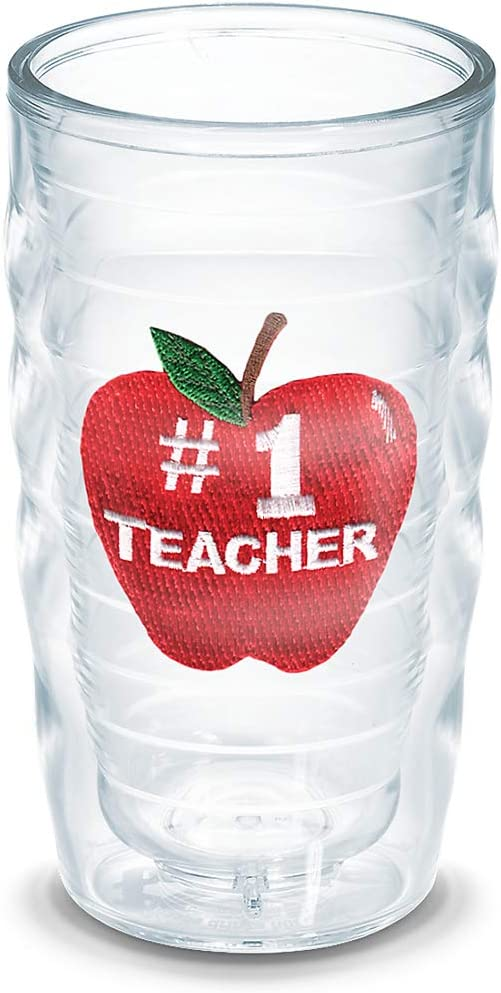 Tervis #1 Teacher-Apple Insulated Tumbler with Emblem, 16Oz, Clear