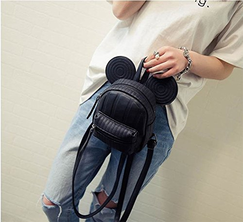 ModaKeusu Casual Purse Fashion Mikey School Leather Backpack Shoulder Bag Mini Backpack for Women & Girls by ModaKeusu (Image #3)