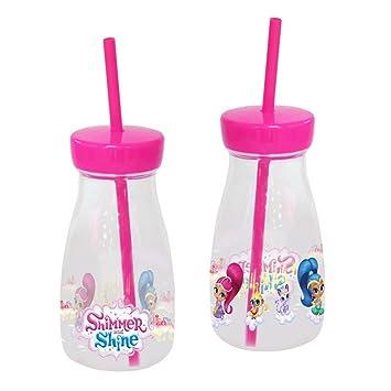 Shimmer And Shine 0 Botella de plástico con Pajita, 0 (CYP Imports B-20-SS): Amazon.es: Juguetes y juegos