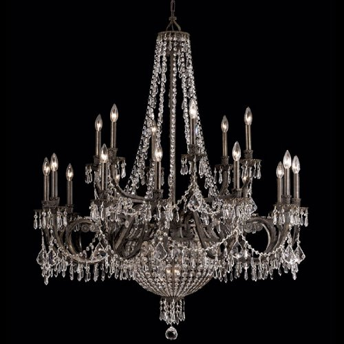 Crystorama 5169-EB-CL-MWP, Vanderbilt Crystal Chandelier Lighting, 23 Light, 920 Watts, Bronze