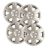 Hubcaps.com - Premium Quality 15' Silver Hubcaps/ Wheel Covers fits Toyota Corolla, Heavy Duty Construction (Set of 4)