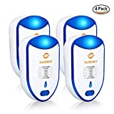 Ultrasonic Pest Repeller 4-Pack - Upgraded Electronic & Ultrasonic Pest Control, Indoor Plug-in Repellent, Anti Mice, Insects, Bugs, Ants, Mosquitos, Rats, Spiders, Roaches, Rodents
