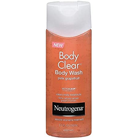Neutrogena Body Clear Acne Treatment Body Wash with Salicylic Acid Acne Medicine to Prevent Breakouts, Pink Grapefruit Salicylic Acid Acne Body Wash for Back, Chest, and Shoulders, 8.5 fl. oz, 3-Pack