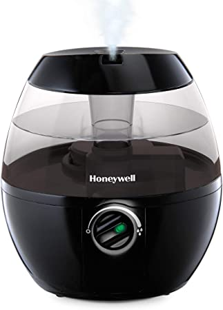 HONEYWELL HUL520B Mistmate Cool Mist Humidifier Black With Easy Fill Tank & Auto Shut Off, For Small, Bedroom, Baby Room, Office, 9.5 x 8.5 x 8.5