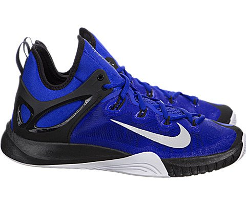 NIKE Zoom Hyperrev 2015 Mens Basketball Shoes 705370-400 Lyon Blue Metallic Silver-Black-White 11 M US