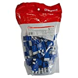 Legrand - On-Q WP3476BE50 Contractor Quick Connect Cat6 RJ45 T568-A/B Keystone Connector (Pack of 50), Blue