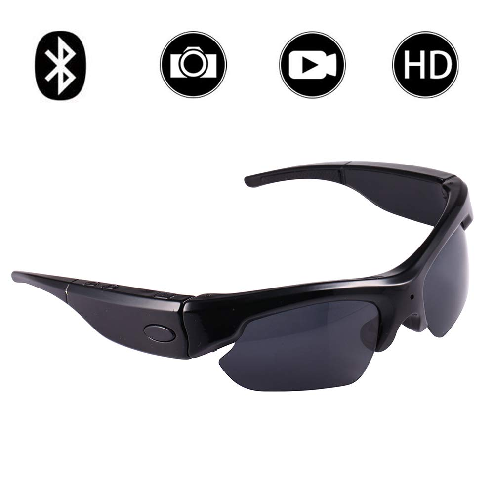 9eabf48e367c Amazon.com : Hidden Spy Camera Sunglasses, Bysameyee 1080P Polarized  Eyeglasses Mini Video Recorder Cam DVR : Camera & Photo
