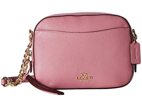 COACH Women's Camera Bag in Polished Pebble Leather Li/Rose One Size