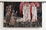 The Vision of the Holy Grail Medieval Knights Fine Art Tapestry Wall Hanging 55'' X 38''