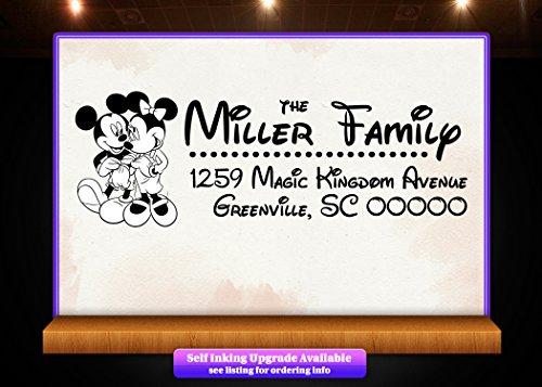 - Disney Theme Return Address Custom Rubber Stamp - Style 1266