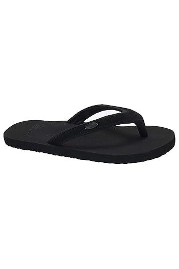 d04591c97 Animal Womens Swish Slim Block Flip Flops - Black - UK 3