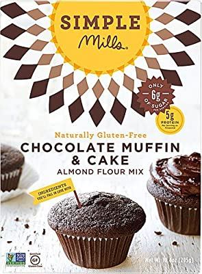 Simple Mills Gluten Free Muffin & Cupcake Almond Flour Mix Chocolate -- 10.4 oz