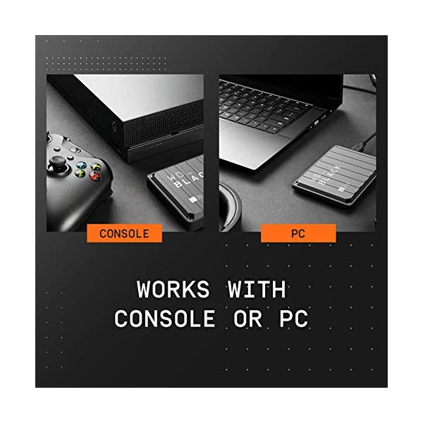 WD_BLACK P10 Game Drive 4 TB, HDD Portatile per Accesso in Mobilità alla Tua Libreria di Giochi, Compatibile con Console o PC 5 spesavip
