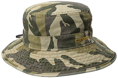 Carhartt Men's Billings Boonie Hat,Rugged Khaki Camo,Medium/Large