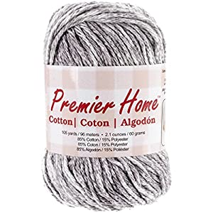 Premier Yarns Home Cotton Yarn, Grey Splash