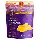 AZNUT Dried Turkish Apricots, Jumbo Size, NON-GMO Certified, Premium Quality, 100% Natural, Gluten-Free, Kosher, Resealable Bag, Snack&Joy, 1 LB For Sale