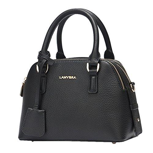 First Black Grain Of Shoulder Bag Big Bag Layer Litchi Ladies Designer Handbag Mena Leather Uk TUXUp