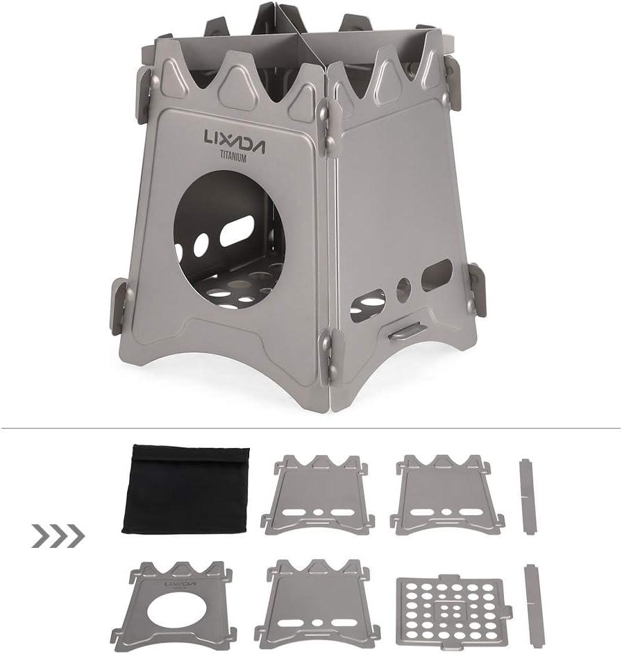Compact Folding Titan Holzofen mit Mini-Alkohol-Herd f/ür Camping im Freien Walmeck