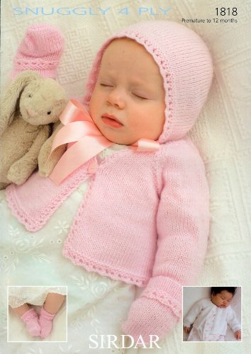 Sirdar Snuggly 4ply Baby Knitting Pattern 1818 Amazon