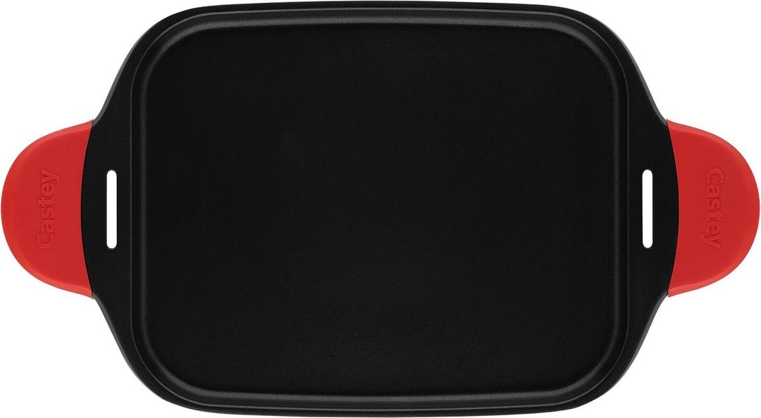 Castey IP45 - Grill tray, induction 45 cm, color black/red, 48.5 x 27.5 cm