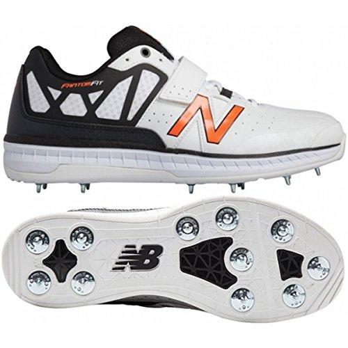 New Balance 2016 CK4050 v1 DC Bowling Cricket Shoes - White/Black - UK 9