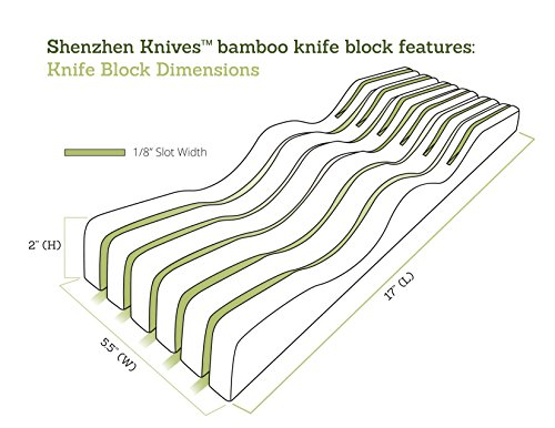 In-Drawer Bamboo Knife Block without Knives. Knife Storage and Organizer holds 10-15 knives by Shenzhen Knives by Shenzhen Knives (Image #3)