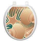 Toilet Tattoos 'At the Beach' (Sea Shells) TT-1600-R Seat...