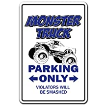 [SignJoker] MONSTER TRUCK Parking Sign gag novelty gift funny rally owner driver trucker Wall Plaque Decoration