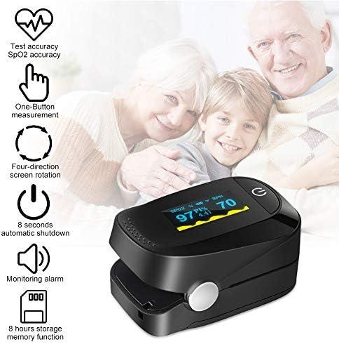 Haofy Oxímetro de Pulso, Pulsioxímetro de Dedo Monitor de Frecuencia Cardíaca y la Saturación de Oxígeno en la Sangre con Pantalla OLED, Aprobado por la FDA y la CE 10