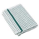 1 Dozen Original Lamont Poli-Check Tea Towel Kitchen Dish Towels Poli Dri, 12 Pack (Green)