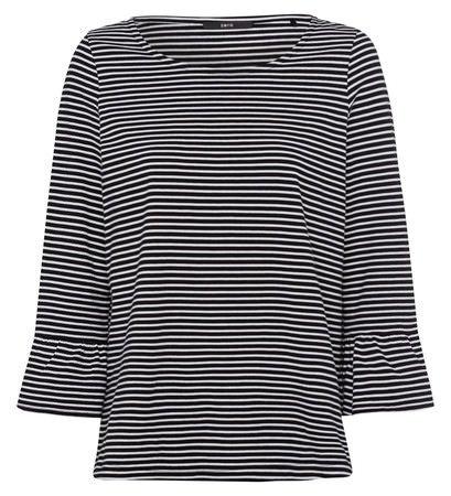 b9a5e212b48e Zero Damen T-Shirt mit Streifen 403306 Black 40  Amazon.de  Bekleidung