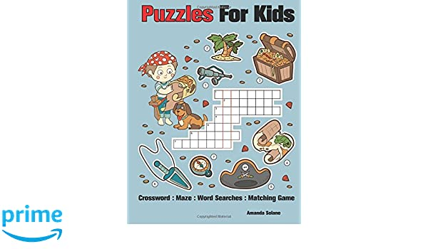 Crossword Puzzles For Kids Maze Puzzles Word Searches Puzzle