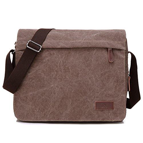 Men Single Shoulder Bags, Canvas Bag, Shoulder Bag-brown