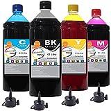 Kit Tinta Epson impressora L355 L365 L375 L395 CMYK 4x1000ml
