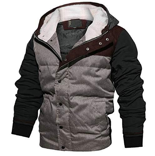 [해외]CBTLVSN 남성 겨울 두껍게 패치 워크 후드 긴 소매 다운 재킷 코트 / CBTLVSN Men`s Winter Thicken Patchwork Hooded Long Sleeve Down Jacket Coat