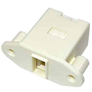 HQRP Washer Door Latch for Electrolux EPWD157SIW0, EPWD157STT0, EPWD15IW3, EPWD15MB2, EPWD15RR2, EPWD15SS2, EPWD15T0 Frigidaire Replacement + HQRP Coaster