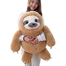 Winsterch Giant Sloth Stuffed Animal Toy Kids Plush Sloth Gift Baby Dolls Birthday Christmas Gifts Home Decoration,27.5 inches (Brown)