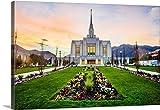 Scott Jarvie Gallery-Wrapped Canvas entitled Ogden Utah Temple at Sunrise, Ogden, Utah