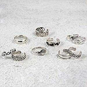 Bling Jewelry Adjustable Infinity Swirl Toe Ring Sterling Silver Wide Midi Rings