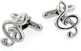 product image for JJ Weston Treble Clef Music Cufflinks. Made in The USA.