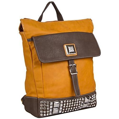 Silverlake Faux Leather Rhinestone Laptop Backpack
